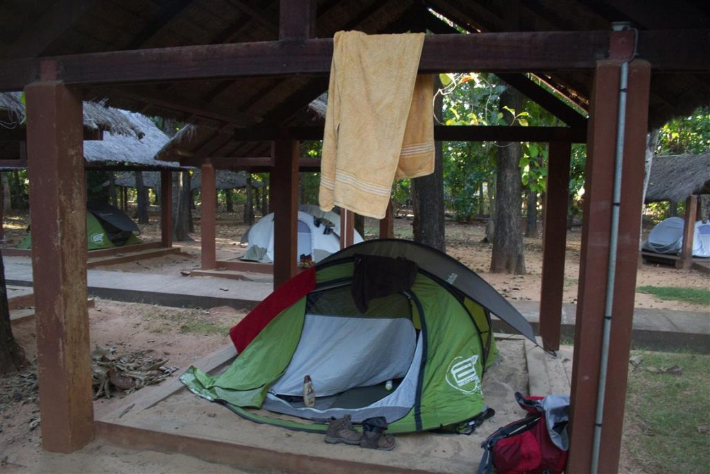 Mein Zelt im Hellen