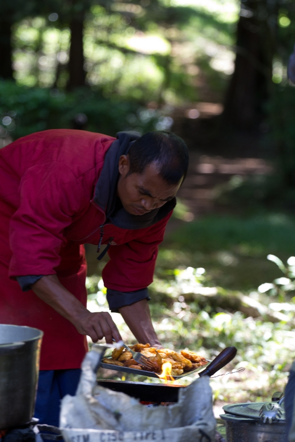 Eric beim Kochen