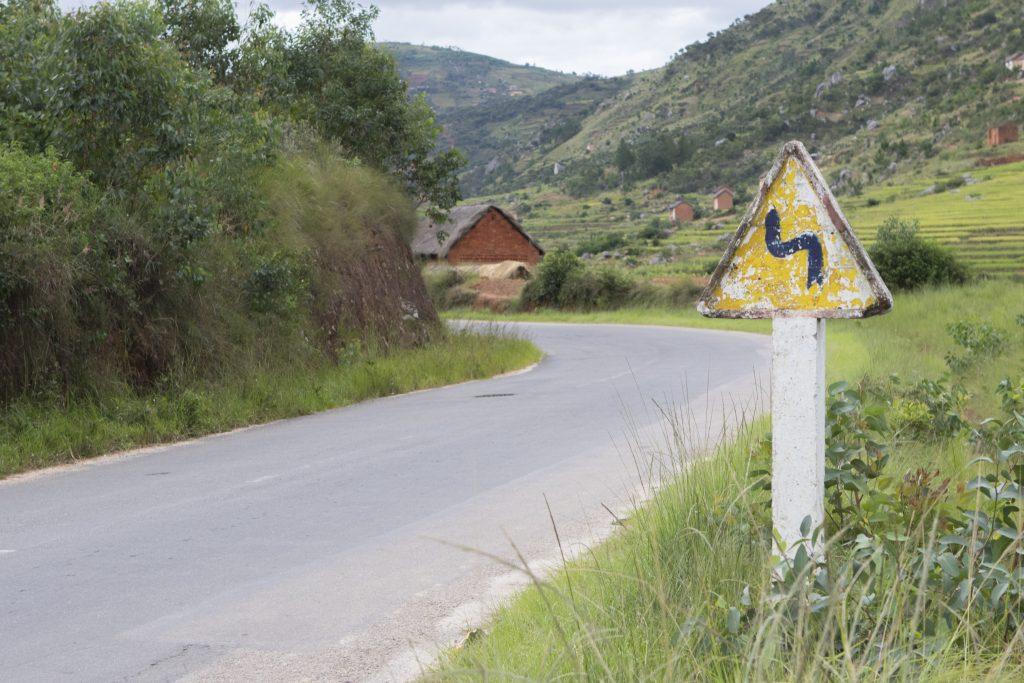Straße im Hochland
