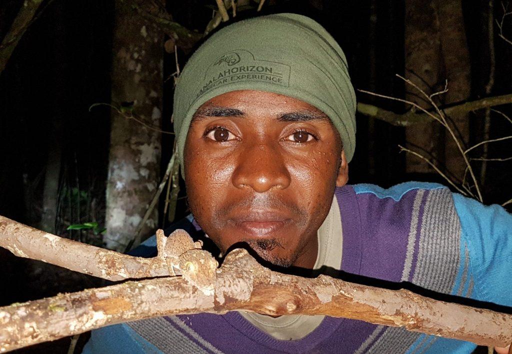 Rapha mit Blattschwanzgecko