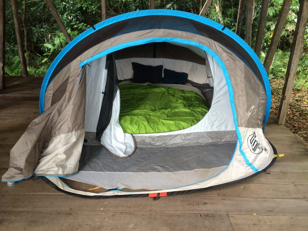 Zelt auf Nosy Mangabe